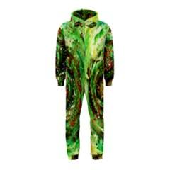Canvas Acrylic Design Color Hooded Jumpsuit (Kids)