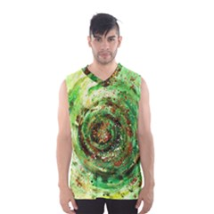 Canvas Acrylic Design Color Men s Basketball Tank Top