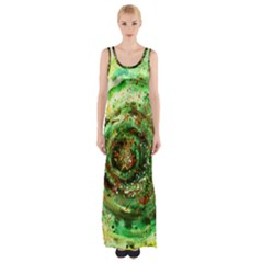 Canvas Acrylic Design Color Maxi Thigh Split Dress