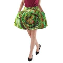 Canvas Acrylic Design Color A Line Pocket Skirt