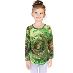 Canvas Acrylic Design Color Kids  Long Sleeve Tee