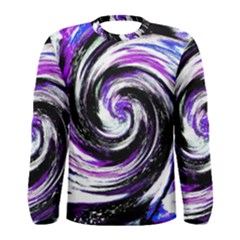 Canvas Acrylic Digital Design Men s Long Sleeve Tee