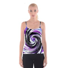 Canvas Acrylic Digital Design Spaghetti Strap Top