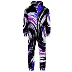 Canvas Acrylic Digital Design Hooded Jumpsuit (men)