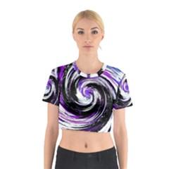 Canvas Acrylic Digital Design Cotton Crop Top