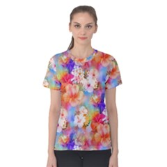 Tropical Hawaiian Garden  Women s Cotton Tee
