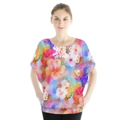 Tropical Hawaiian Garden  Blouse