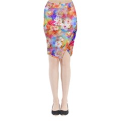 Tropical Hawaiian Garden  Midi Wrap Pencil Skirt