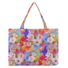 Tropical Hawaiian Garden  Medium Zipper Tote Bag