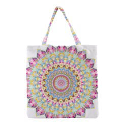 Kaleidoscope Star Love Flower Color Rainbow Grocery Tote Bag