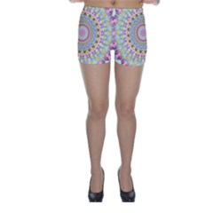 Kaleidoscope Star Love Flower Color Rainbow Skinny Shorts