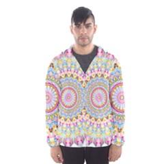 Kaleidoscope Star Love Flower Color Rainbow Hooded Wind Breaker (Men)