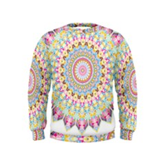 Kaleidoscope Star Love Flower Color Rainbow Kids  Sweatshirt