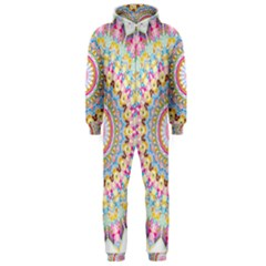 Kaleidoscope Star Love Flower Color Rainbow Hooded Jumpsuit (Men)