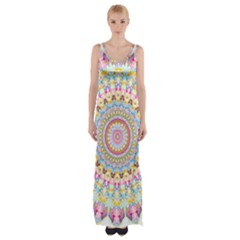 Kaleidoscope Star Love Flower Color Rainbow Maxi Thigh Split Dress