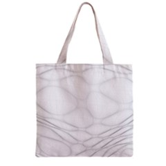 Line Stone Grey Circle Grocery Tote Bag