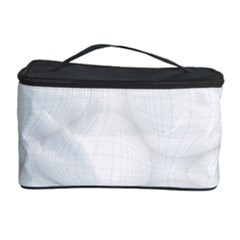 Line Stone Grey Circle Cosmetic Storage Case