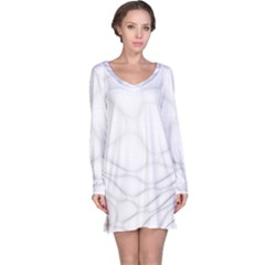 Line Stone Grey Circle Long Sleeve Nightdress