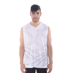 Line Stone Grey Circle Men s Basketball Tank Top