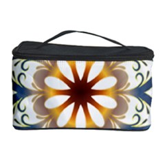 Prismatic Flower Floral Star Gold Green Purple Orange Cosmetic Storage Case