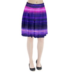 Space Planet Pink Blue Purple Pleated Skirt