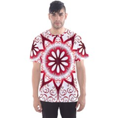 Prismatic Flower Floral Star Gold Red Orange Men s Sport Mesh Tee