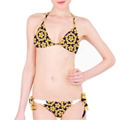 Star Orange Blue Bikini Set