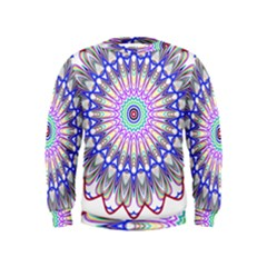Prismatic Line Star Flower Rainbow Kids  Sweatshirt