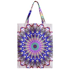 Prismatic Line Star Flower Rainbow Zipper Classic Tote Bag