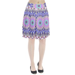 Prismatic Line Star Flower Rainbow Pleated Skirt