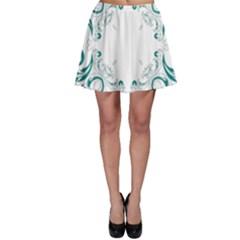 Vintage Floral Style Frame Skater Skirt