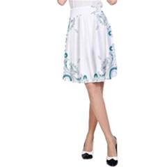 Vintage Floral Style Frame A-Line Skirt