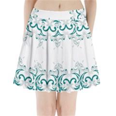 Vintage Floral Style Frame Pleated Mini Skirt