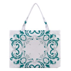 Vintage Floral Style Frame Medium Tote Bag