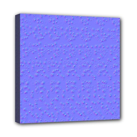 Ripples Blue Space Mini Canvas 8  X 8