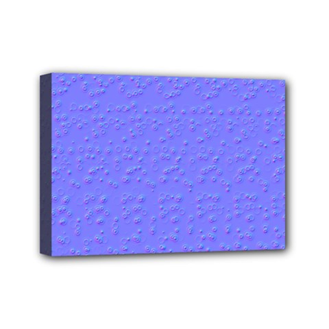 Ripples Blue Space Mini Canvas 7  x 5