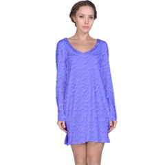 Ripples Blue Space Long Sleeve Nightdress