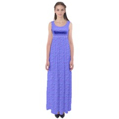 Ripples Blue Space Empire Waist Maxi Dress