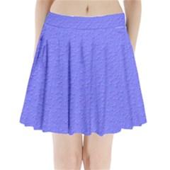 Ripples Blue Space Pleated Mini Skirt