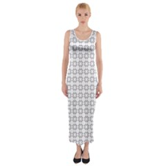 Violence Head On King Purple White Flower Fitted Maxi Dress