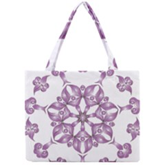 Frame Flower Star Purple Mini Tote Bag