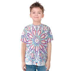 Frame Star Rainbow Love Heart Gold Purple Blue Kids  Cotton Tee