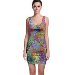 Glass Rainbow Color Sleeveless Bodycon Dress