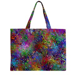 Glass Rainbow Color Zipper Mini Tote Bag