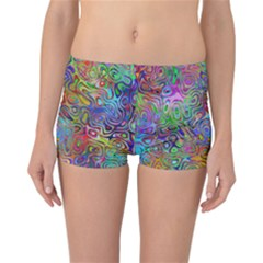 Glass Rainbow Color Reversible Bikini Bottoms