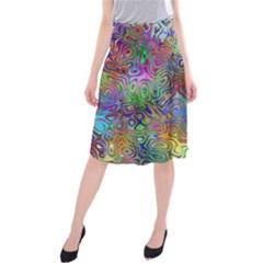 Glass Rainbow Color Midi Beach Skirt