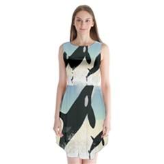 Whale Mum Baby Jump Sleeveless Chiffon Dress