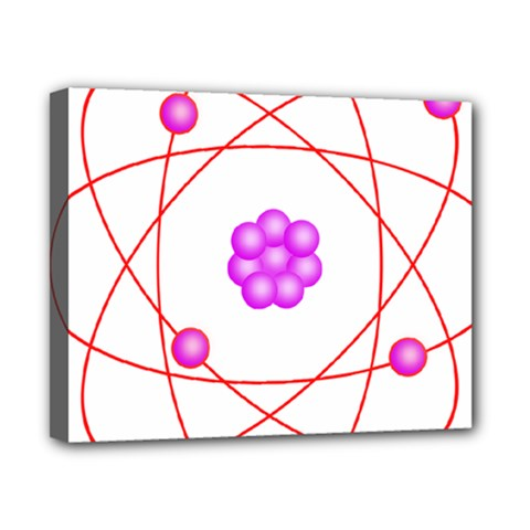 Atom Physical Chemistry Line Red Purple Space Canvas 10  x 8