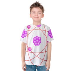 Atom Physical Chemistry Line Red Purple Space Kids  Cotton Tee