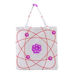 Atom Physical Chemistry Line Red Purple Space Grocery Tote Bag